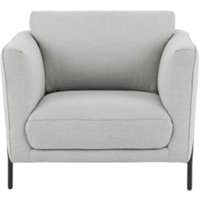 Everson fauteuil, stofgrijs CHAERN001GRY-ME