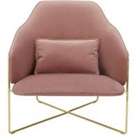 Stanley fauteuil, vintage roze fluweel CHASLY006PNK-ME