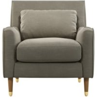 Content by Terence Conran Oksana fauteuil, beige met poten in licht hout en messing CHAOKS033BEI-ME