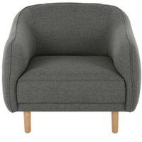 Haring fauteuil, donkergrijs SOFHRN004GRY-ME